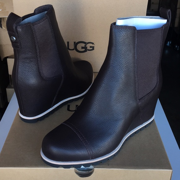 Ugg Pax Leather Bootie Boots Sz